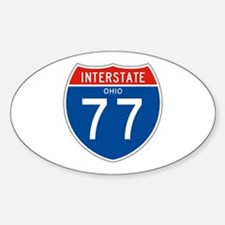 Interstate 77 - OH Oval Decal