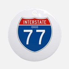 Interstate 77 - OH Ornament (Round)