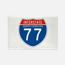 Interstate 77 - NC Rectangle Magnet