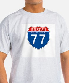 Interstate 77 - NC Ash Grey T-Shirt