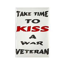 kiss a veteran Rectangle Magnet
