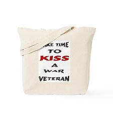 kiss a veteran Tote Bag