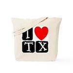 I Love TX Tote Bag
