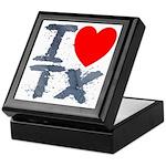 I Love TX Keepsake Box
