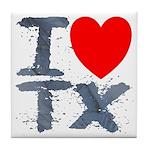 I Love TX Tile Coaster