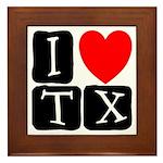 I Love TX Framed Tile