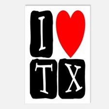 I Love TX Postcards (Package of 8)