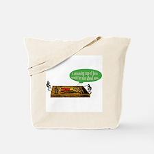 Frog Steaming Java Tote Bag