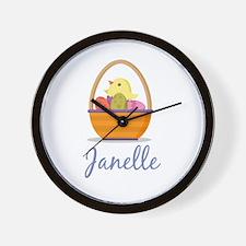 Easter Basket Janelle Wall Clock