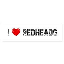 I * Redheads Bumper Bumper Sticker