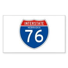 Interstate 76 - NE Rectangle Decal