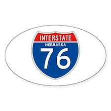 Interstate 76 - NE Oval Decal