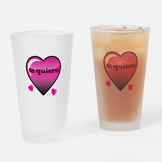 te quiero-I love you Drinking Glass