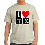 I Love TX Ash Grey T-Shirt