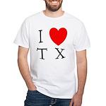 I Love TX White T-Shirt