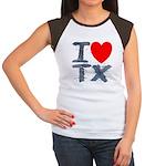 I Love TX Women's Cap Sleeve T-Shirt