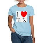 I Love TX Women's Pink T-Shirt