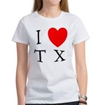 I Love TX Women's T-Shirt