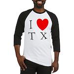 I Love TX Baseball Jersey