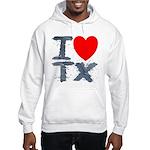 I Love TX Hooded Sweatshirt