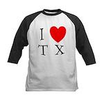 I Love TX Kids Baseball Jersey