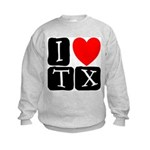 I Love TX Kids Sweatshirt