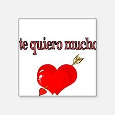 te quiero mucho-I love you very much Sticker