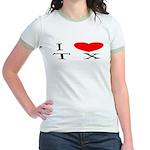 I Love TX Jr. Ringer T-Shirt