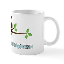 60th Wedding Anniversary Owls Mug