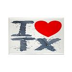 I Love TX Rectangle Magnet