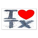 I Love TX Rectangle Sticker