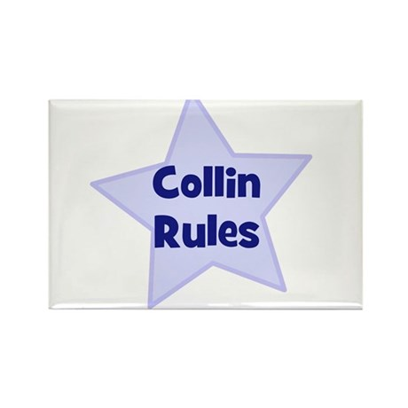 Collin Rules Rectangle Magnet