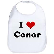 I Love Conor Bib