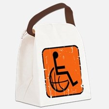 Handicapable Basketball Canvas Lunch Bag