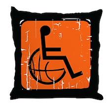 Handicapable Basketball Throw Pillow