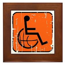 Handicapable Basketball Framed Tile
