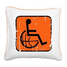 Handicapable Basketball Square Canvas Pillow
