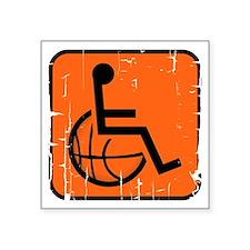 "Handicapable Basketball Square Sticker 3"" x 3"""