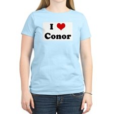 I Love Conor Women's Pink T-Shirt