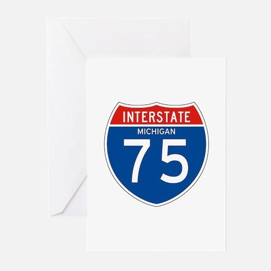 Interstate 75 - MI Greeting Cards (Pk of 10)