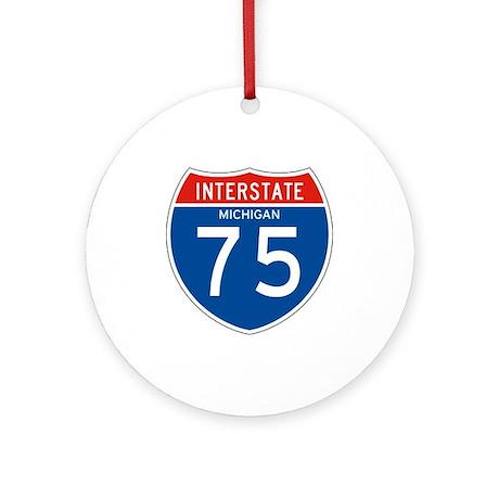 Interstate 75 - MI Ornament (Round)