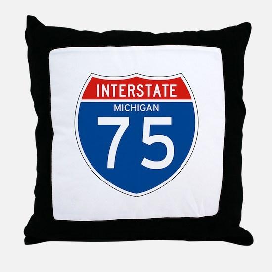 Interstate 75 - MI Throw Pillow