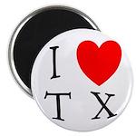 I Love TX Magnet