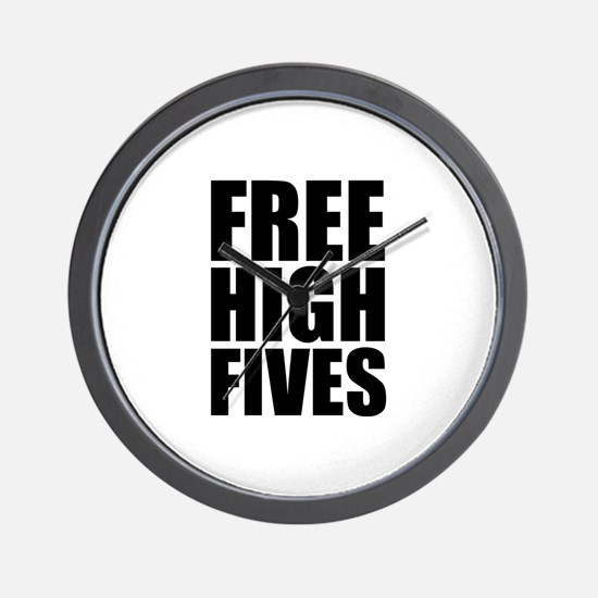 FREE HIGH FIVES Wall Clock