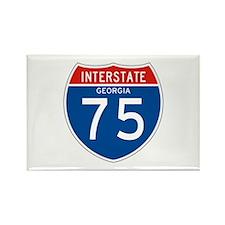 Interstate 75 - GA Rectangle Magnet (100 pack)