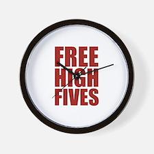 FREE HIGH FIVES Wall Clock