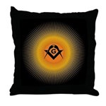Masonic Starburst Throw Pillow
