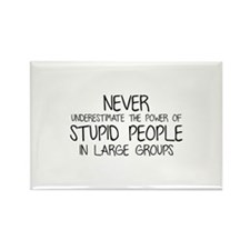 Stupid People In Large Groups Rectangle Magnet