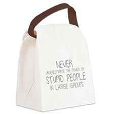 Stupid People In Large Groups Canvas Lunch Bag