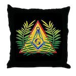 Masonic Acacia and Pyramid Throw Pillow